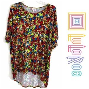 LulaRoe Irma women Top High Low Floral 063!
